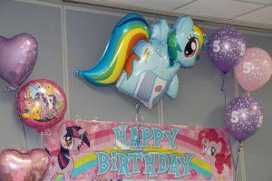 Happy Birthday Balloons at The HUB Recreation Center in Marion Illinois