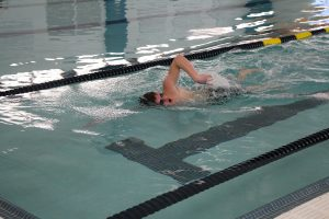 Young Man Swimming at The HUB Recreation Center in Marion Illinois