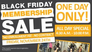 Black Friday Membership Sale One Day Only at The HUB Recreation Center