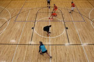 Dodgeball Tourney in the Gymnasium at The HUB Recreation Center