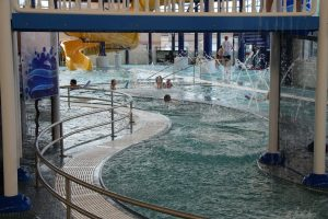 Kids Having Fun in the Lazy River at The HUB Recreation Center in Marion Illinois