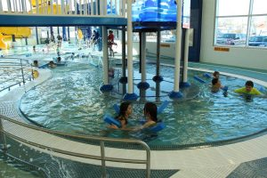 Kids Enjoy Swimming in the Lazy River at The HUB Recreation Center in Marion Illinois