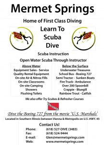 Learn to Scuba Dive with Mermet Springs Flyer at The HUB Recreation Center