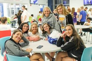 Post Prom Group of Girl Friends at The HUB Recreation Center in Marion Illinois