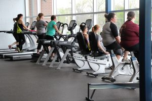 Women Exercising at The HUB Recreation Center in Marion Illinois
