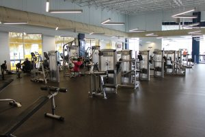 Machine Weights in the Fitness Center at The HUB Recreation Center
