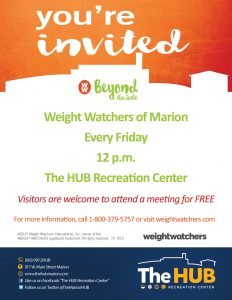 Weight Watchers of Marion Illinois Flyer at The HUB Recreation Center