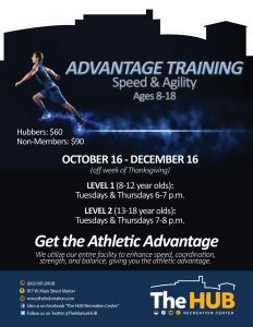 Youth Advantage Speed and Training Ages 8-18 at The HUB Recreation Center