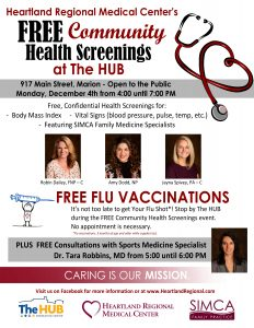 Free Community Health Screenings with Heartland at The HUB Recreation Center
