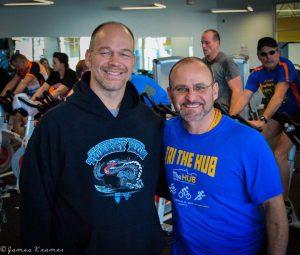 CJ Rubright and Chris Georgantas Tri-The-HUB