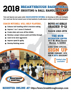 Basketball Shooting and Ball Handling Camp at The HUB Recreation Center in Marion Illinois