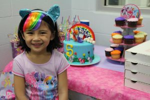 Friendship Pony Birthday Party Girl at The HUB Recreation Center in Marion Illinois