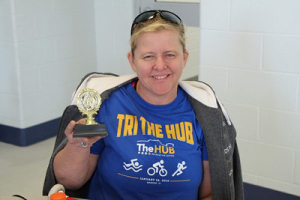 Tri The HUB Indoor Triathlon Trophy Winner