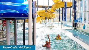 Kids Swimming Wateslide and Lazy River at The HUB Recreation Center