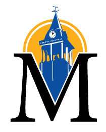Big M with Clock Tower City of Marion Illinois Logo