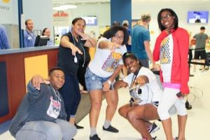 Fun Group of Teens Enjoying Post Prom at The HUB Recreation Center in Marion Illinois