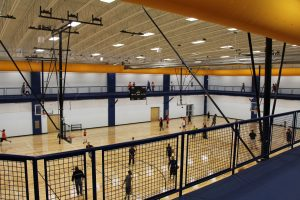 Basketball Courts and Track at The HUB Recreation Center in Marion Illinois