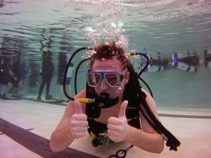 Scuba Diver in the Pool at The HUB Recreation Center in Marion Illinois