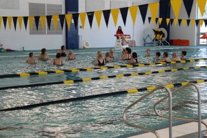 Senior Water Aerobics Class at The HUB Recreation Center in Marion Illinois