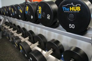 Free Weights at The HUB Recreation Center in Marion Illinois