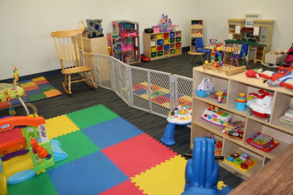 Child Care Room with Toys at The HUB Recreation Center