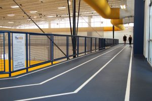People Walking Indoor Track at The HUB Recreation Center