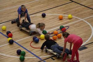 Boys and Girls Play Fun Games at The HUB Recreation Center in Marion Illinois