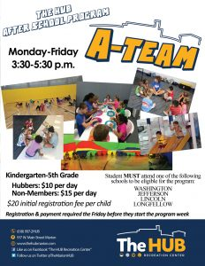 After School Program A-Team Pictures of Fun Kids Activities at The HUB Recreation Center