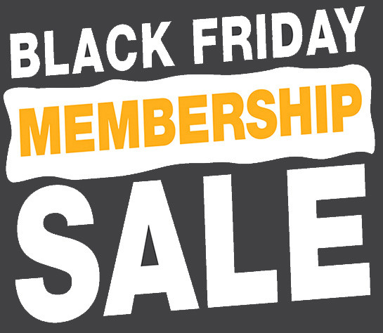 Black Friday Membership Sale Bold Text Image at The HUB Recreation Center