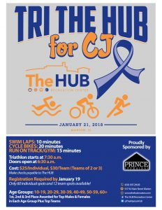 Indoor Triathlon Tri The HUB for CJ Rubright at The HUB Recreation Center