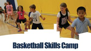 Young Boys and Girls Running Basketball Drills on the Court
