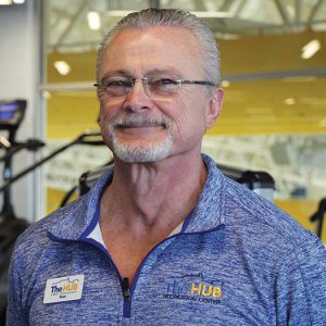 Fitness Coordinator Russ Rau at The HUB Recreation Center
