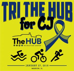 Indoor Triathlon at The HUB in Marion, Illinois in Honor of CJ Rubright
