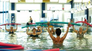 Older Active Adults Exercising in the Pool